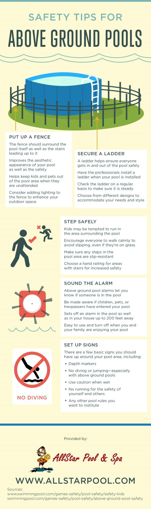 Safety Tips for Above Ground Pools [Infographic]